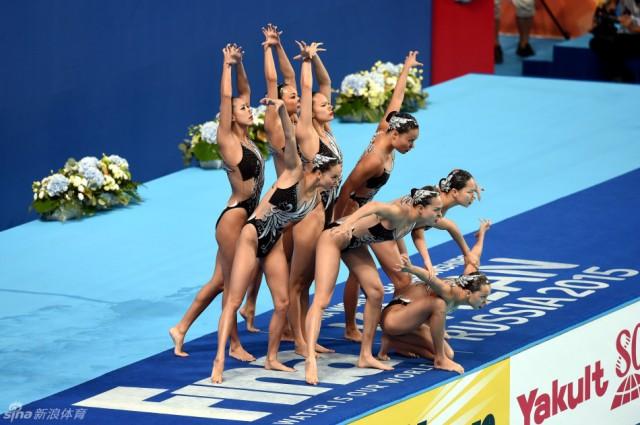 花游集体技术自选中国摘银 俄罗斯夺冠日本季军