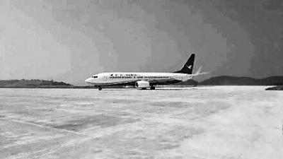 飞机降落在三明沙县机场