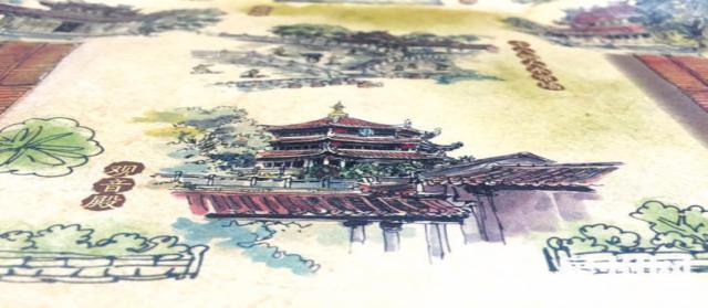 泉州少林寺推手绘地图