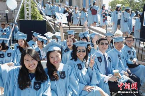 资料图:美国哥伦比亚大学中国留学生。<a target='_blank' href='http://www.chinanews.com/'>中新社</a>记者 廖攀 摄