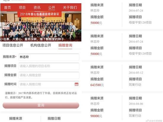 林志玲捐款记录