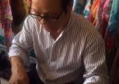 视频 詹国平正在缝制惠安女服饰