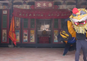 """台湾义虎团在龙海市文山武术馆传习""""弄虎""""技艺"""