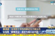 赖清德:台湾劳工平均月薪近五万新台币