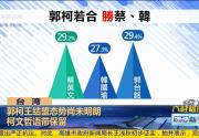 柯文哲:2020若蓝绿对决 蔡英文会赢韩国瑜