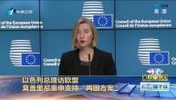 """以色列总理访欧盟 莫盖里尼重申支持""""两国方案"""""""