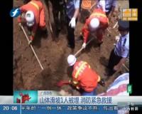 广西百色:山体滑坡1人被埋 消防紧急救援