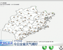 9月26日福建全省天气晴好