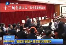 福建代表团认真准备议案建议