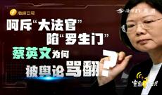 """《宝岛,报到!》呵斥""""大法官""""陷""""罗生门"""" 蔡英文为何被舆论骂翻"""