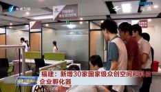福建:新增30家国家级众创空间和科技企业孵化器