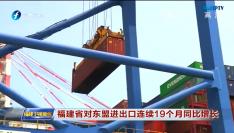 福建省对东盟进出口连续19个月同比增长