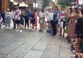 兩岸青少年合唱團在福州南后街快閃