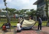 台湾退伍军人至防务部门前扎营绝食 抗议年金改革