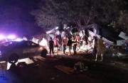 泰一双层大巴发生车祸致19死31伤