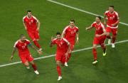 沙奇里单刀反击破门 瑞士2-1反超塞尔维亚