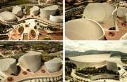 """鸟瞰福州""""茉莉花""""造型海峡文化艺术中心"""