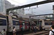 港铁红磡站附近发生列车出轨事故 暂无人受伤