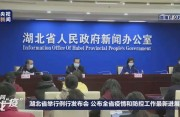 湖北省卫健委主任回应10万张床位质疑:目前有1万张