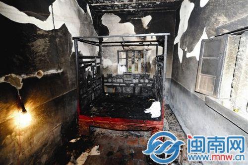 惠安一民房起火卧床男丢性命 疑使用电热毯引起