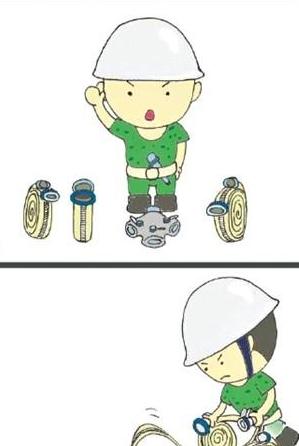 泉州帅气阿兵哥手绘漫画 记录消防队的那些事儿