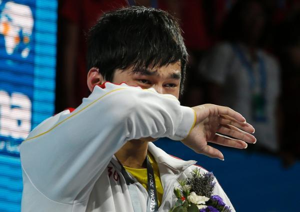 孙杨称退赛后 哭了很久 ,这7年他已经哭了13回