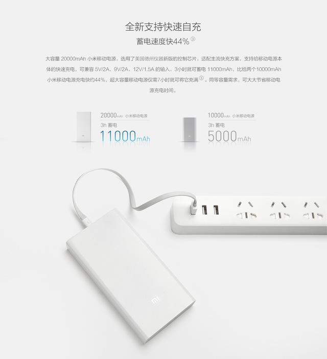 小米推出20000mah移动电源