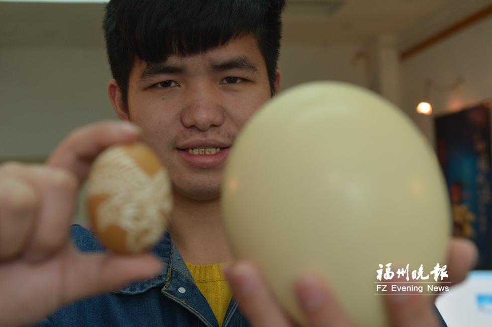 蛋壳上雕出缤纷世界 掌握文创技艺听障大学生更自信