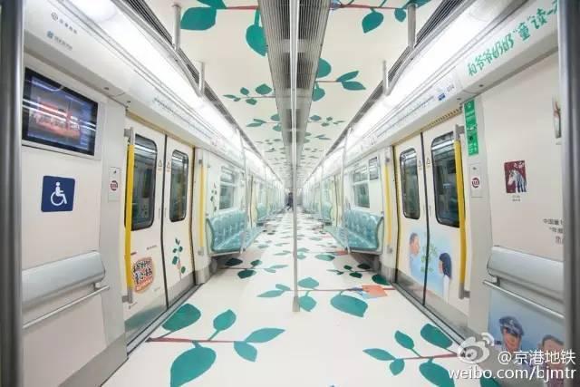 而青岛地铁3号线像个海洋世界.