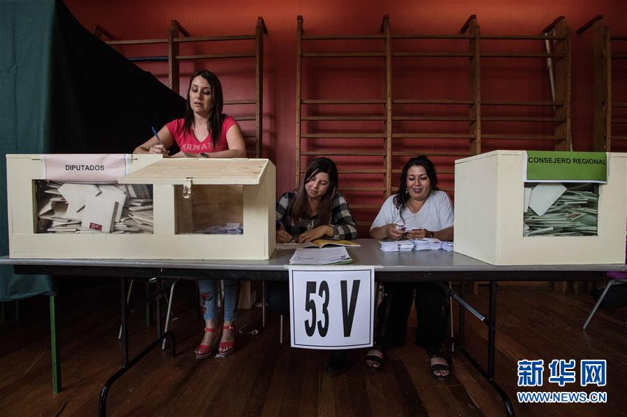 智利总统和议会选举投票结束