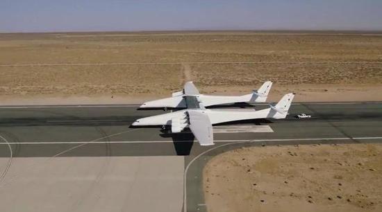 全球最大飞机完成首次滑跑试验 _国际_福建网络广播台