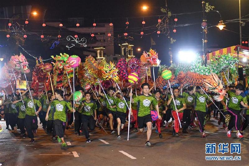 (XHDW)(3)马来西亚举办舞龙挑战赛