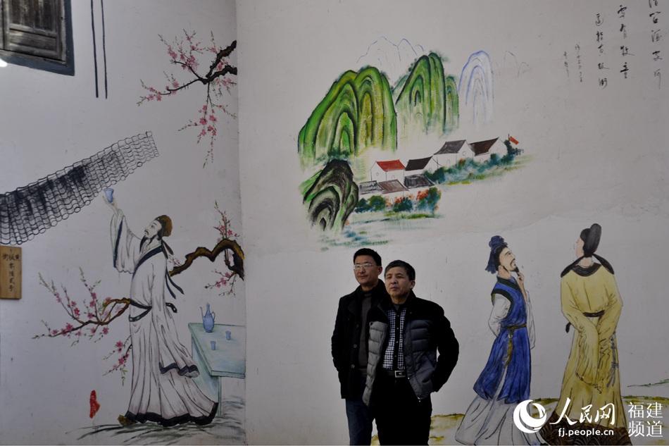 永春县仙阳村民居的墙画。吴隆重 摄