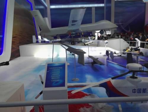 航天11院展示的未来大型隐身飞翼无人机模型