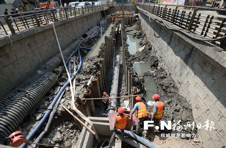 福州城区水系治理各项永久性及景观提升工程全力推进