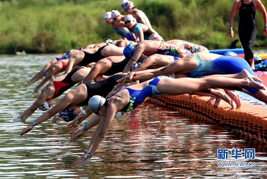 (体育)(1)游泳---全国马拉松游泳系列赛在福建泰宁开赛