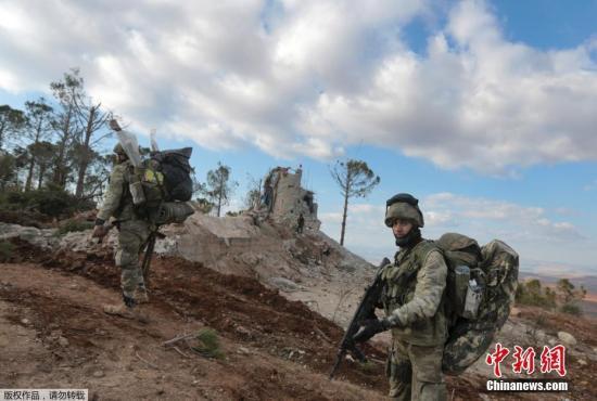 资料图:布尔萨亚山上的土耳其士兵。