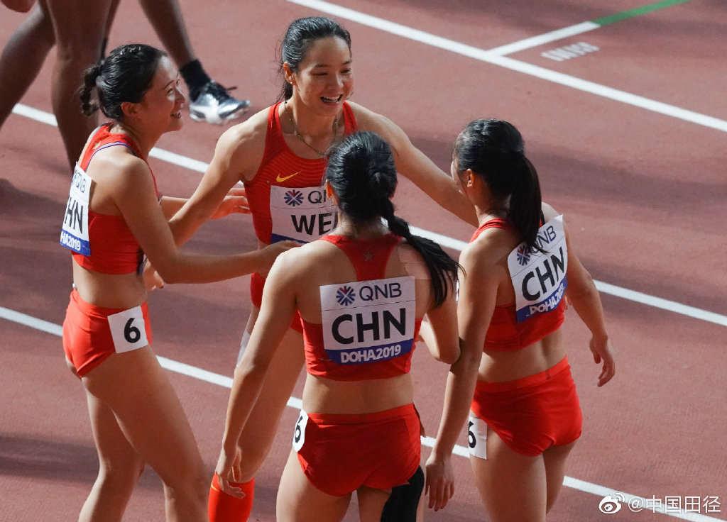 历史首次!中国男女4×100米接力双双晋级决赛