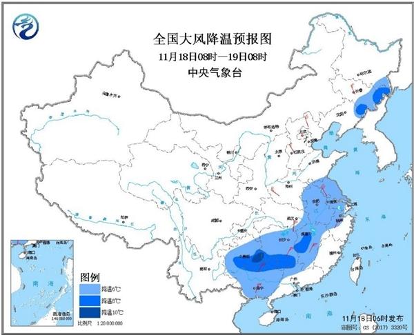 寒潮横扫我国三分之二国土【】大城市创新低 东北局地大暴雪