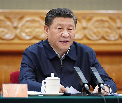 2020年3月6日,中共中央总书记、国家主席、中央军委主席习近平在北京出席决战决胜脱贫攻坚座谈会并发表重要讲话。新华社记者 鞠 鹏摄