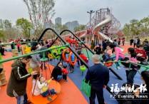 福州刚开放的生态公园成出游热点 迎来如潮游客