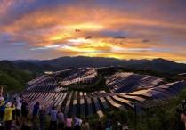 福建松溪:夕阳下的光伏电站