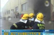 诏安:加工厂大火烧塌六千平方厂房 消防联手扑救8小时