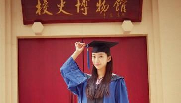 清朝皇族后裔女孩毕业了
