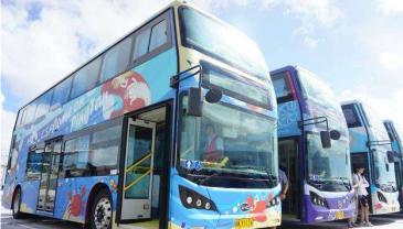 """平潭双层观光巴士正式运营 可览""""最美环岛路段"""""""