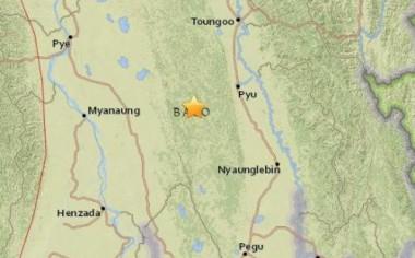 缅甸南部发生5.1级地震 震源深度10千米