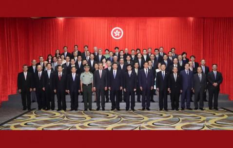 习近平会见香港特别行政区行政、立法、司法机构负责人