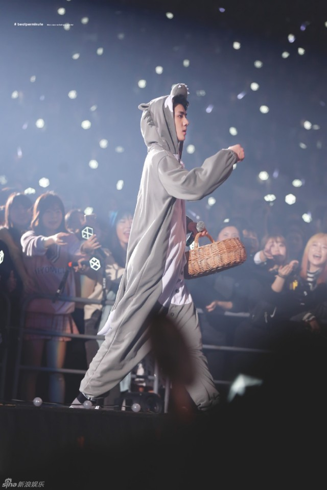 "exo演唱会上演""疯狂动物城"""
