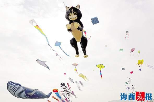 """厦门:天空上演""""疯狂动物城"""""""