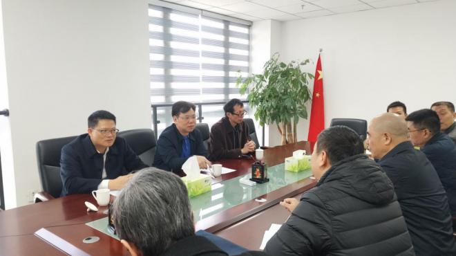 集团领导看望慰问传输发射中心干部员工